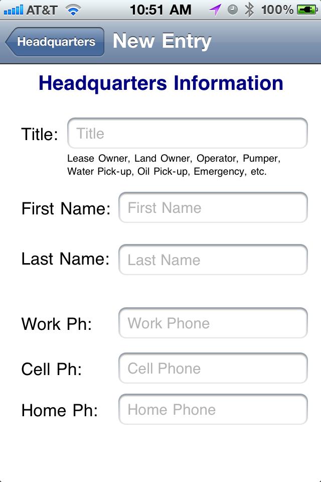 Headquarters List