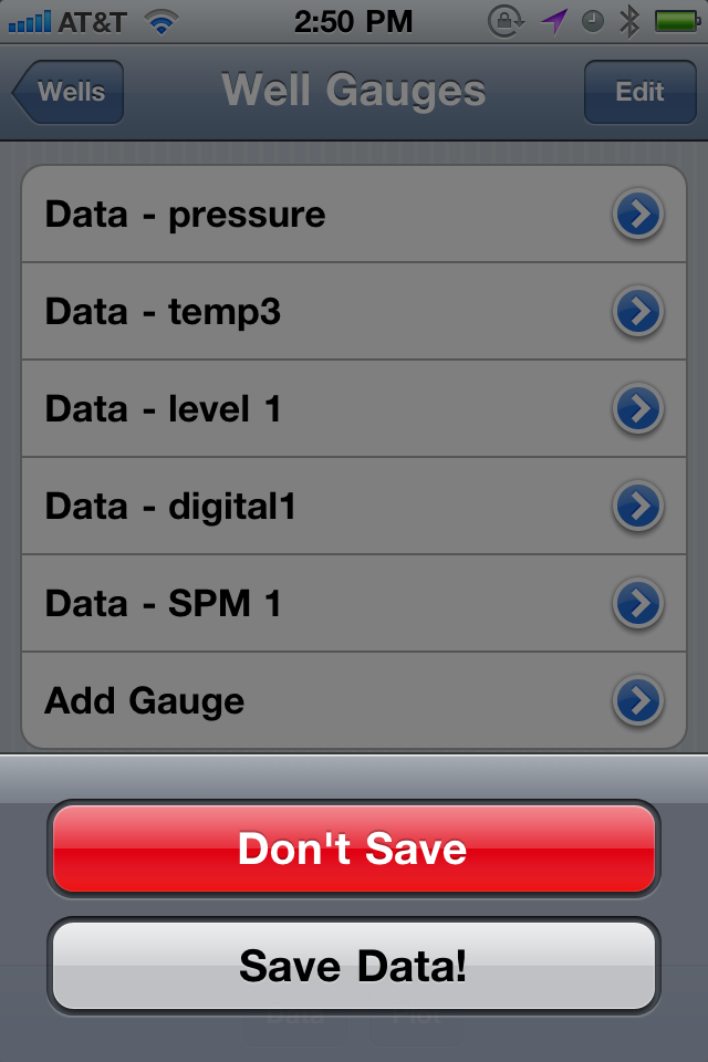 Save Gauge Data