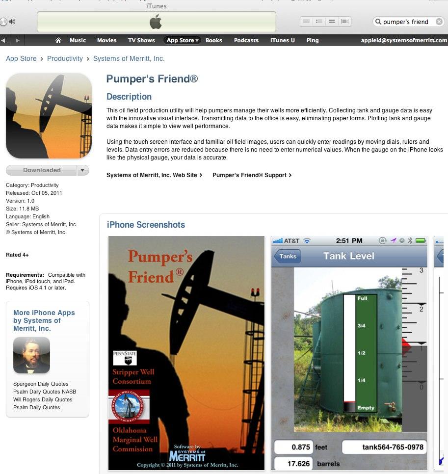 Pumper's Friend in iTunes Store! » Pumper's Friend